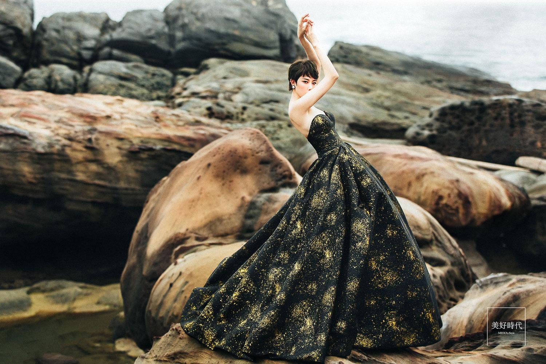 台北 婚紗 推薦 個性 黑禮服