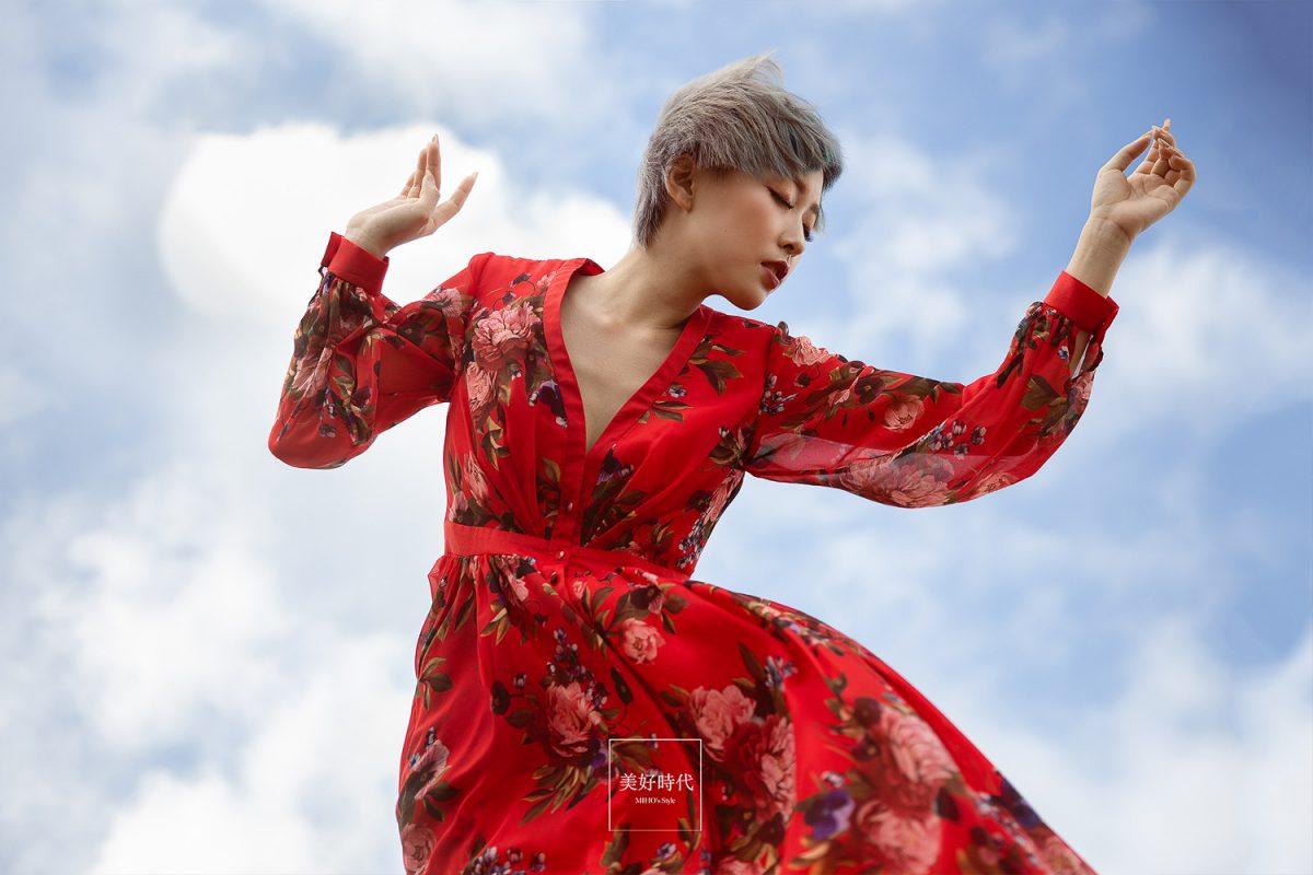 個人寫真 台北 婚紗 推薦 唯美 個性 紅禮服