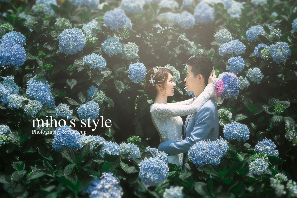 自助婚紗 自主婚紗 台北 婚紗 推薦 唯美 浪漫 繡球花